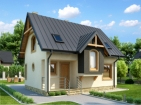 Проект компактного дома с мансардой