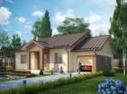 Проект удобного одноэтажного дома с гаражом