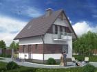 Проект небольшого стильного дома с мансардой
